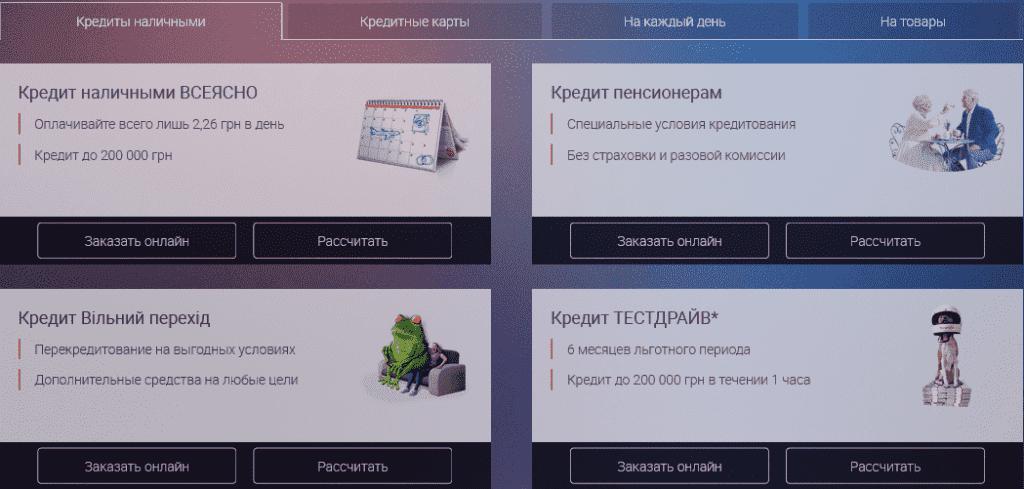 карты кредитные через онлайн ua