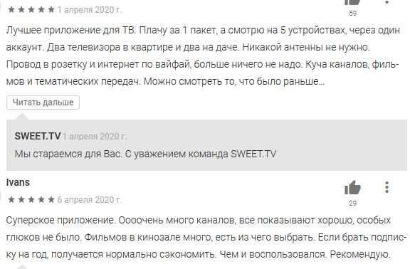 СвитТВ отзывы (SweetTV отзывы)